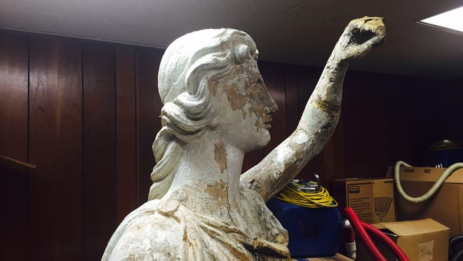 Lady of Justice statue, built in 1828 to adorn front of Morris County courthouse, will be repaired