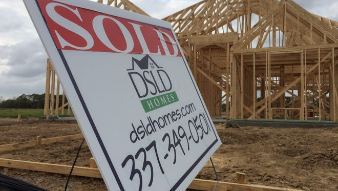 This newly constructed home off West Broussard Road sold before completion.