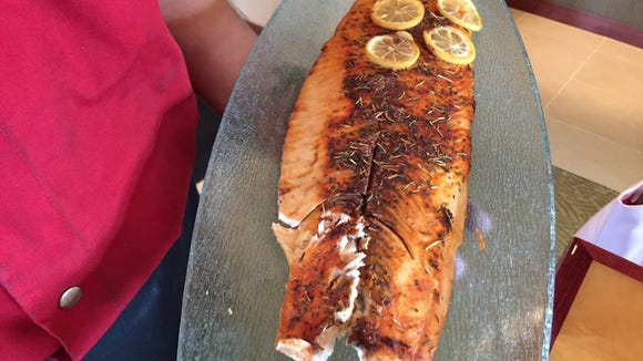 The rosemary salmon is one of Tucanos' seafood options.