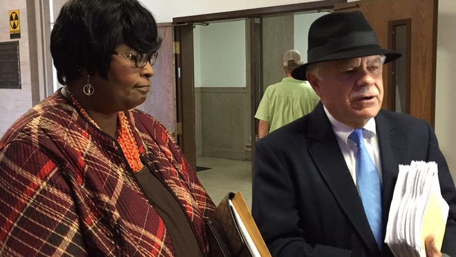 Monroe City Councilwoman Betty Blakes and her attorney, John Settles, Jr. appeared in court Friday to begin Blakes' lawsuit contesting the April 9 election.