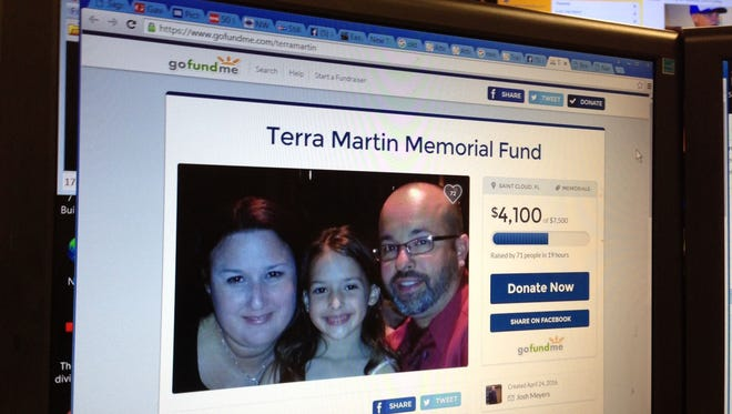 A Gofundme page for Terra Martin