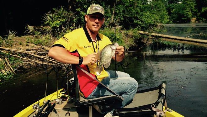 Scott Williams, of Cochran, Georgia, will be fishing in the Crappie masters Tournament in Prattville.