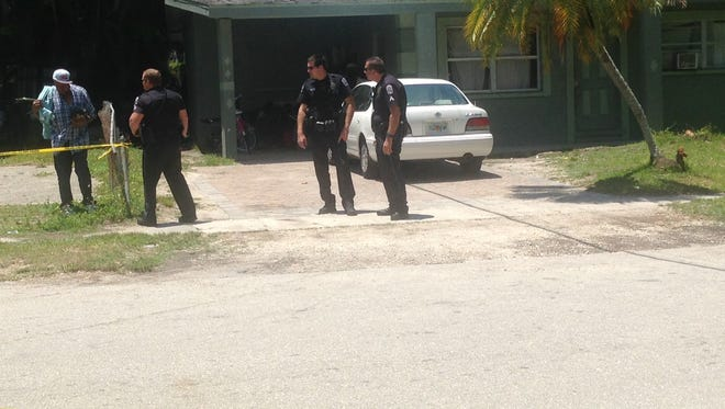 Police investigate a shooting at 11200 Sumter Drive in Fort Myers.