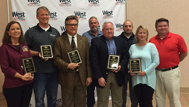 Business owners and representatives from six local companies were honored during the 3rd Annual West Monroe-West Ouachita Chamber of Commerce Small Business Awards program.