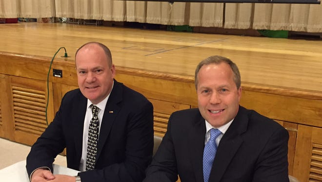 Morris County Freeholder candidates from left, Peter King and Louis Valori