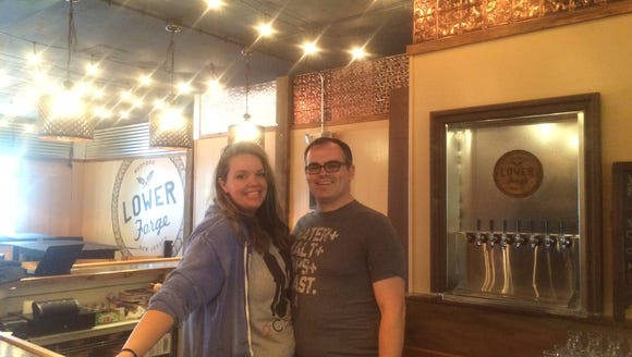Owners Abbie and Sean Galie  named their new brewery