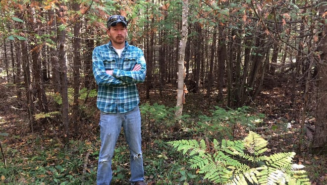 Matt Kodanko took the Door County Advocate for a walk into the area around Mud Lake Wildlife Area in Baileys Harbor in October. Kodanko wanted to show the newspaper the environment searchers faced while they looked for his great-uncle John Kodanko.