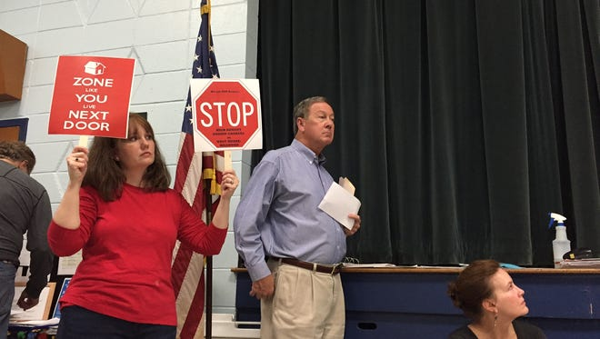 Several West Meade neighbors attended Wednesday's community meeting to express their opposition to the proposed zone change at Brook Hollow Road and Harding Pike.
