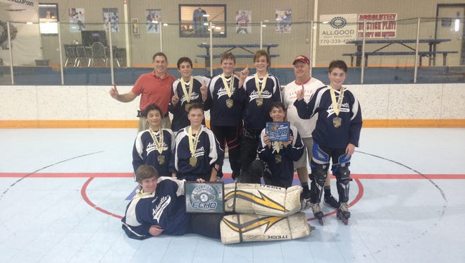 The Asheville Mountaineers won the Echo Travel Lite Inline 14U Hockey Tournament Series Finals last month in Snellville, Ga.