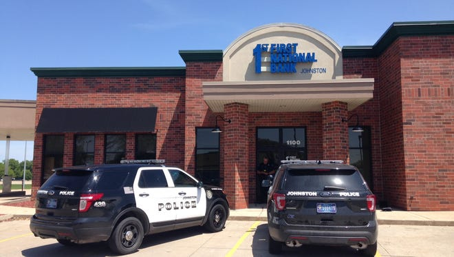 A juvenile allegedly robbed First National Bank in Johnston Thursday afternoon.