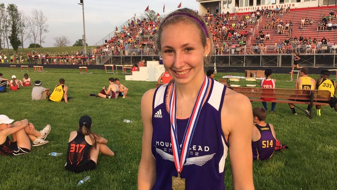 Mount Gilead senior Jenna Shipman is returning to the state track meet next week in three events in girls Division III.