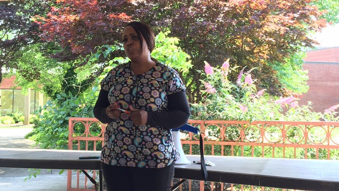 Nursing technician Alicia Halliburton discusses challenges the Nashville Community Care & Rehabilitation Center at Bordeaux has faced since Signature HealthCARE took over the facility in 2014.