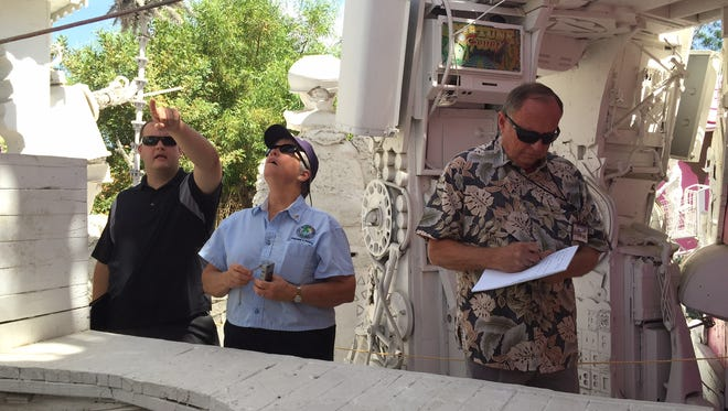 Code enforcement officers inspect Kenny Irwin Jr.'s home in Palm Springs.