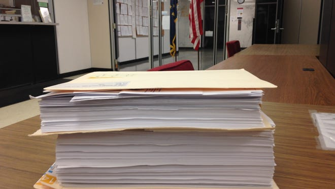 The court file in State of Indiana vs. Angela Mock contains hundreds of pages of evidence that she misappropriated athletic ticket sale collections while working as a secretary at Central High School.