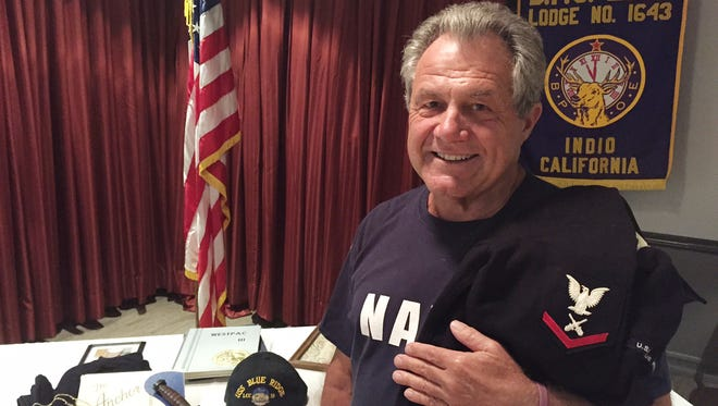James Miller served in the U.S. Navy aboard the USS Blue Ridge during the Vietnam War. He's pictured at the Elks Lodge in Indio where he's served two terms as the club's Grand Exalted Ruler.