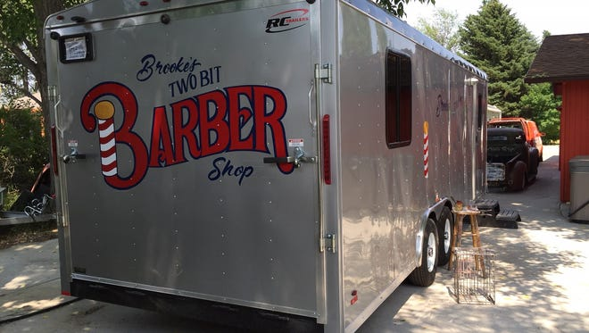 Brooke Dolan plans to open a mobile barbershop.
