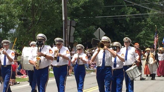 Marching band at the July 2, 2016 Randolph Kiwanis Freedom Parade