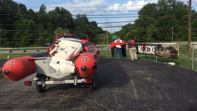 Montgomery County Water Rescue Squad assisted in the search Friday of a soldier who fell into a creek. The soldier's body was found Tuesday.