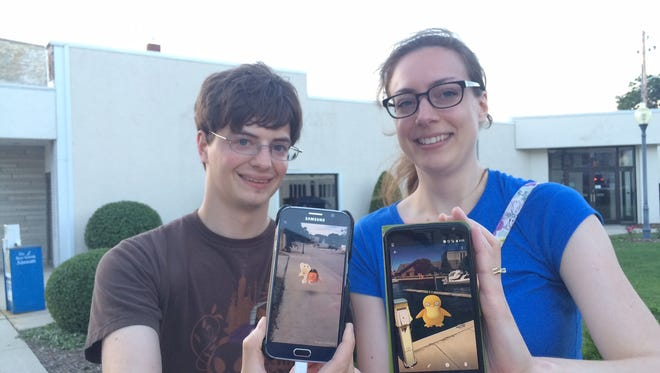 Steven and Sarah Tucholski, both 29 of Institute, spent the weekend playing Pokemon Go.