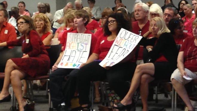 School board meeting on July 19