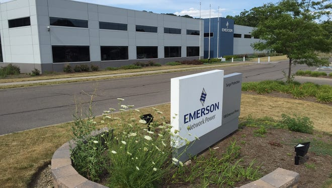 The 38,000-square-foot Emerson Electric plant is nearly vacant, and the building is for sale. Emerson is closing the operation because of declining surge equipment demand.