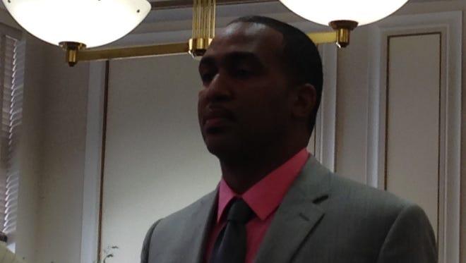 Mario Riep in Hamilton County Common Pleas Judge Jody Luebbers' courtroom Thursday for his sentencing.