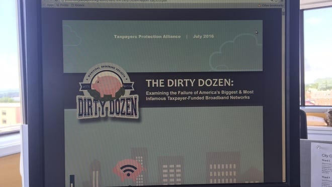 "The ""Dirty Dozen"" is a list of the 12 most ""unsuccessful, wasteful and flawed state and local internet projects."" It was published by a conservative group believed to have ties to the conservative Koch organization."