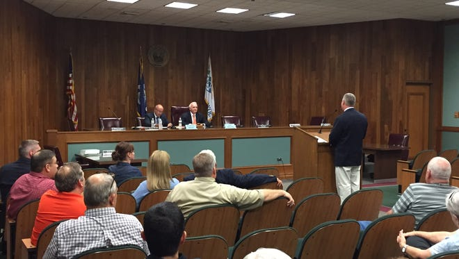 Residents comment about the performance of the West Monroe Police Department during a public information session Tuesday night.