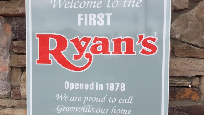 The sign outside the Ryan's on Laurens Road indicates it was the first one opened.