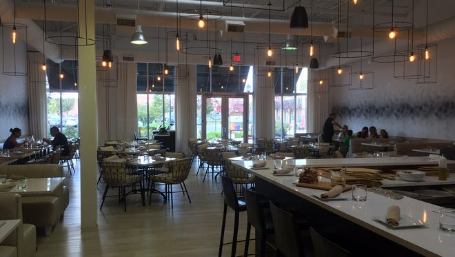 With its white walls, open layout and chic lighting fixtures, La Scala Fire is an oasis at the bustling Promenade shopping center in Marlton.