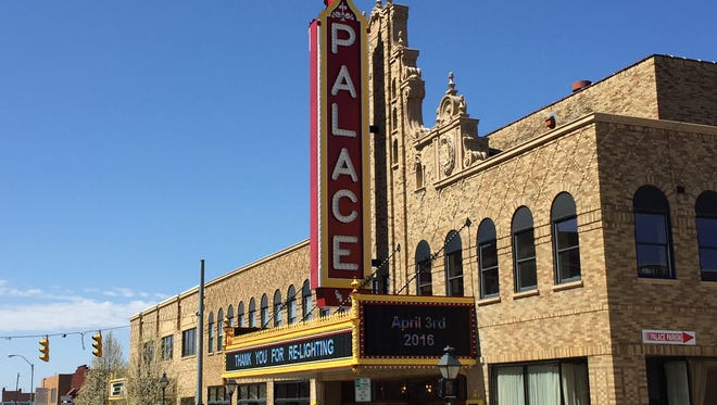 The Palace Theatre in downtown Marion was honored for historic preservation efforts involving its marquee.