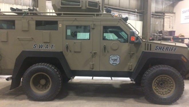 Marathon County Swat Vehicle at the Sheriff's Department and Resource Center.