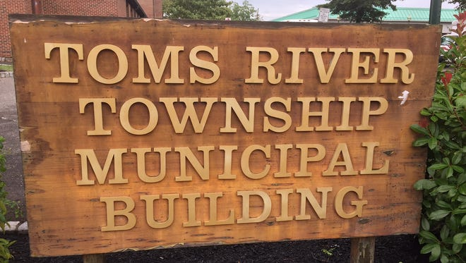 Toms River municipal building sign.
