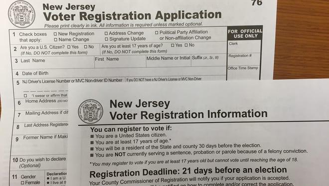 Voter registration applications