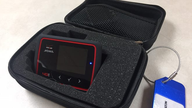 Members of the Jackson-Madison County Library can now borrow the internet using these 'MiFi' hotspot devices.
