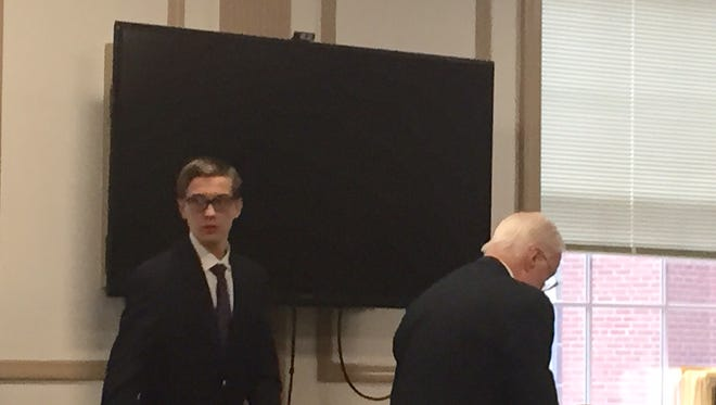 Colin Bolger at his sentencing in Superior Court on Oct. 21, 2016.