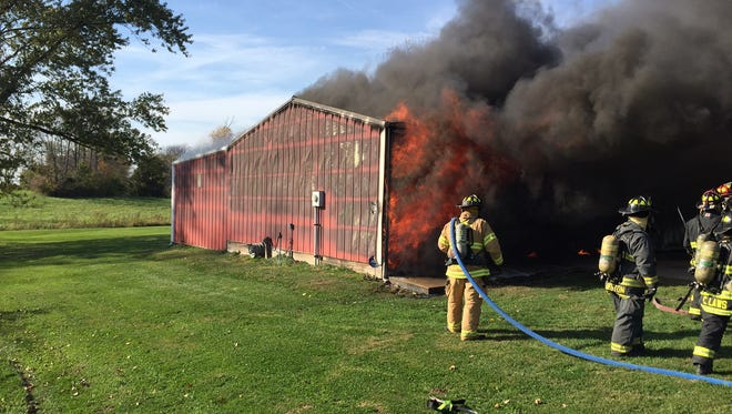 Danville Fire Department put out a barn fire in the 1300 block of South County Road 300 East.