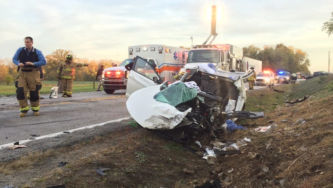 One  man was airlifted to an Indianapolis hospital Monday morning after a passenger car struck a semi tanker head-on while driving on U.S. 231 south of Lafayette.