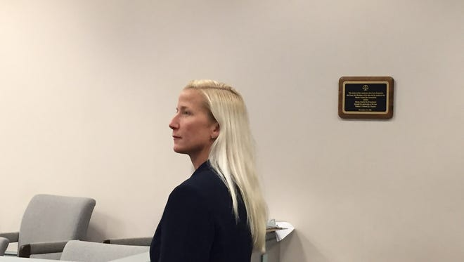 Randolph Police Officer Melissa Bailey, who is suing the department for gender discrimination, in Superior Court, Morristown, on Oct. 31, 2016.
