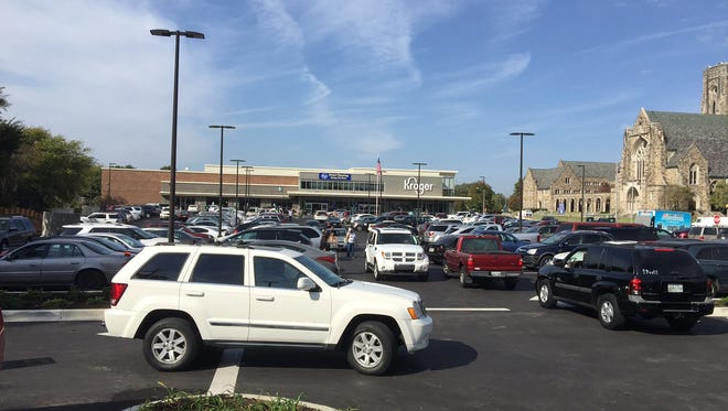 A 55-year-old male pedestrian was struck by a vehicle near a Kroger in Midtown on Tuesday, according to police.