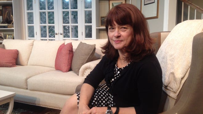 """Director Claudia Stefany on the set of Elmwood Playhouse's """"An American Daughter,"""" which centers on a woman whose nomination for Surgeon General hits a roadblock on the way to confirmation. Stefany said Wendy Wasserstein's play is """"ridiculously prescient"""" and reverberates in a different way after Election Day 2016."""