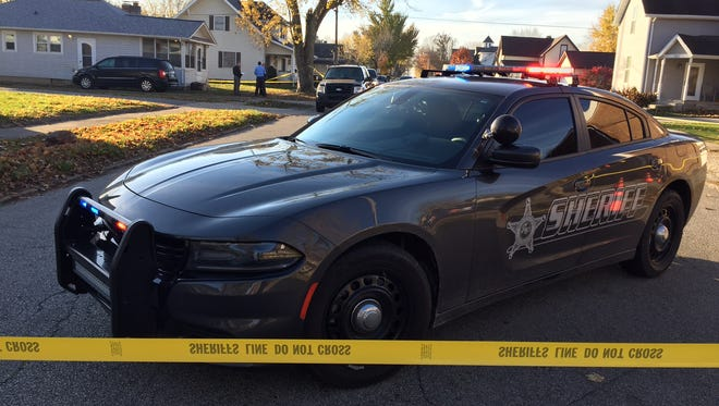 Montgomery County Sheriff's deputies investigate a double homicide Friday in Darlington.
