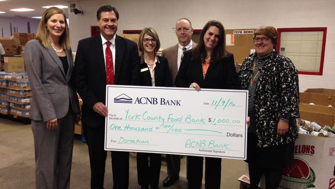 ACNB Bank will be hosting a food drive through Nov. 30 to benefit the York County Food Bank.