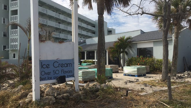 The former Boardwalk Ice Cream building sits vacant across from Vero Beach's Conn Beach boardwalk on Nov. 23, 2016. The store was closed earlier in the year. A developer plans to tear down the structure and build residential condominiums with oceanfront views on the site.