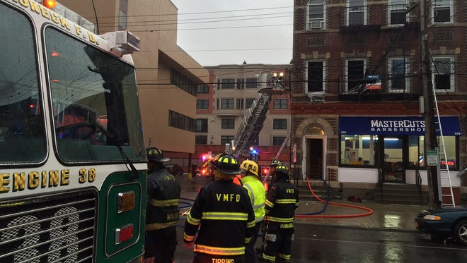 Firefighters battled a blaze in the 600-block of Mamaroneck Avenue in the village on Tuesday, Nov. 29, 2016.