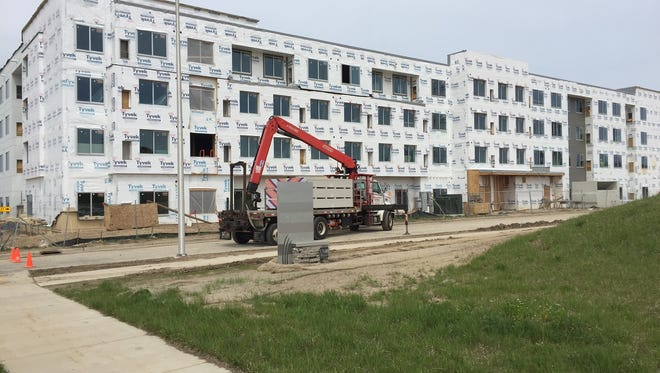 A Residence Inn in Wauwatosa, shown under construction earlier this year, opens on Tuesday.