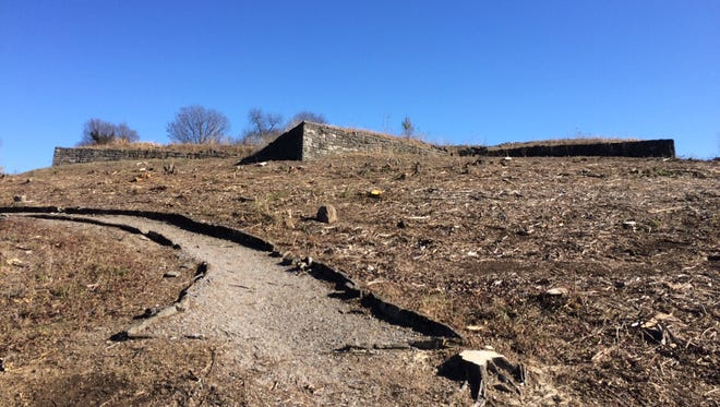Metro Parks removed trees at Fort Negley as part of a plan to restore the site to its original look in the 1860s.