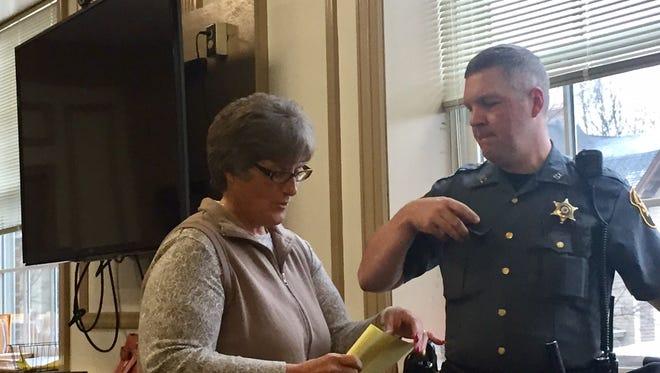 """Mine Hill resident Julianne """"Juli"""" Porphy Jandik in Superior Court, Morristown, on Dec. 5, 2016."""