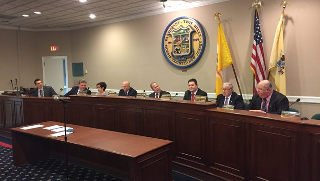 The Parsippany-Troy Hills Council conducts its 2017 reorganization meeting on Jan. 3, 2017.