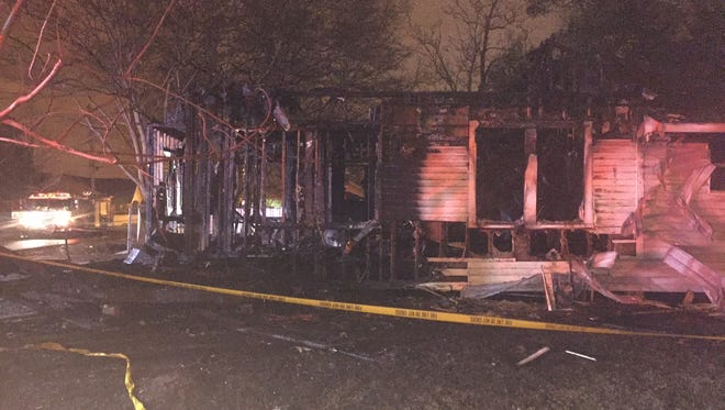 A vacant home on Madison Street in Lafayette sustained heavy damage in a fire early Tuesday morning.